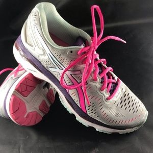 XLNT ASICS GEL-Kayano 23 Womens 8.5 US Grey Pink